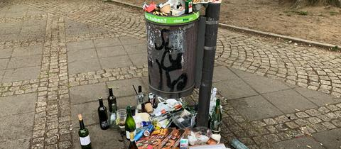 Müllberge in Corona-Zeiten