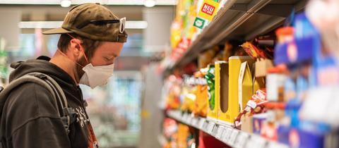 Mundschutz Supermarkt