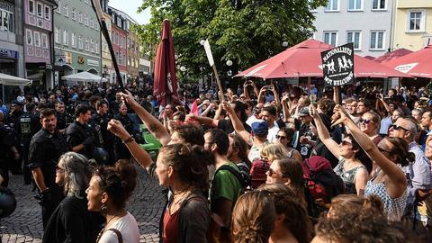 Demonstration in Fulda gegen Rechtsextremismus
