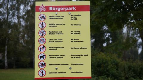 Parkordnung im Neustädter Bürgerpark
