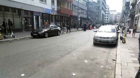 Die Niddastraße im Frankfurter Bahnhofsviertel