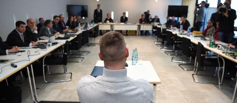 V-Mann G. sitzt vor dem NSU-Ausschuss.
