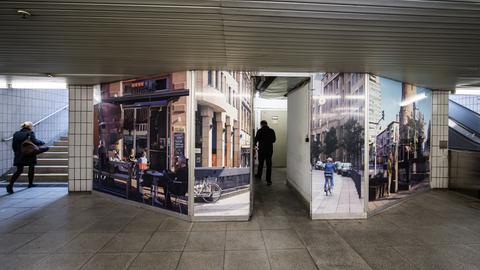 Lager der Winterübernachtung für Obdachlose in Frankfurt