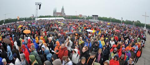 Tausende Gläubige trafen sich beim 2. Ökumenischen Kirchentag 2010 in München