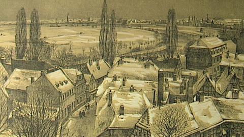 Heute erinnert nichts mehr an die Fachwerkidylle der kleinen Residenz, die Offenbach einmal war