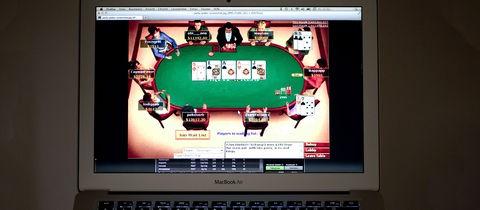 Online-Glücksspiele Notebook