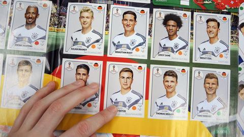 Panini-Bilder der deutschen Fußball-Nationalmannschaft