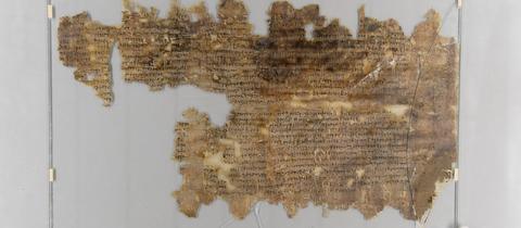 Blick auf den Gießener Papyrus.