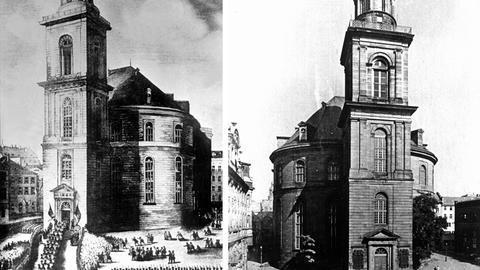Die Paulskirche vor und nach dem Krieg