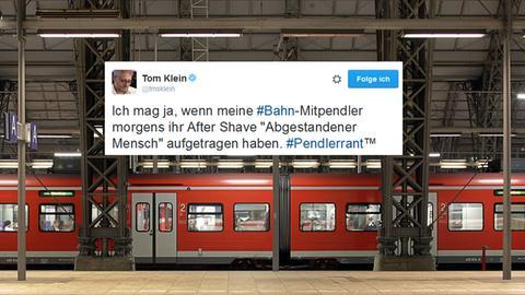 Bildmontage: Hauptbahnhof Frankfurt / Tweet-Screenshot vom Tom Klein