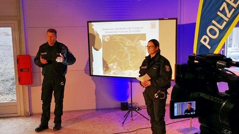 Polizei-Pressekonferenz zum Einsatz im Dannenröder Forst