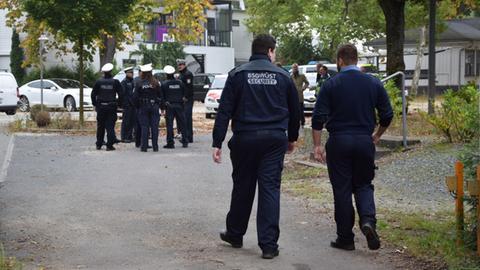 Polizei Räumung Frankfurter Rennbahn