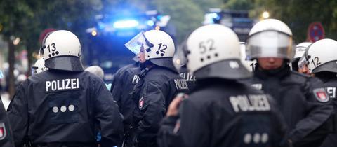 Polizei Einsatz Demo Sujet