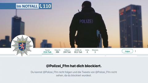Gesperrter Twitter-Account der Polizei Frankfurt