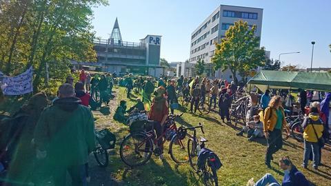 Protest gegen den Riederwaldtunnel