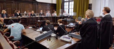 Die Jugendstrafkammer des Hamburger Landgerichts vor der Urteilsverkündung