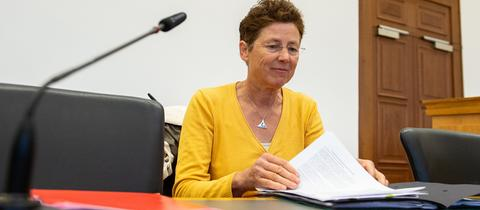 Die Gießener ärztin Kristina Hänel am Freitag vor Gericht.
