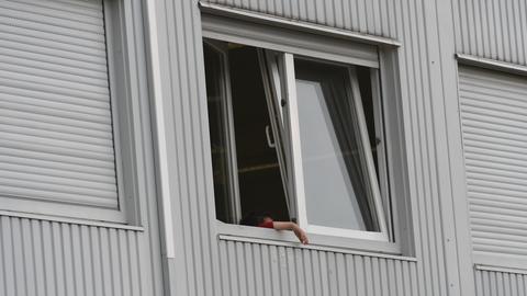 Die Flüchtlingsunterkunft in Hofheim
