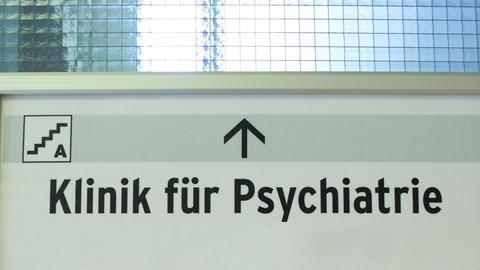 Schild: Klinik für Psychiatrie