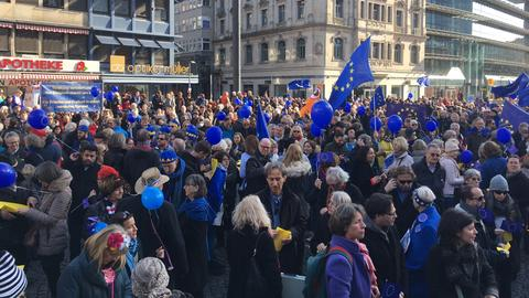 Kundgebung von Pulse of Europe in Frankfurt