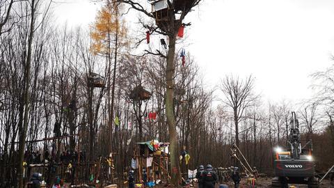 Räumung im Dannenröder Forst