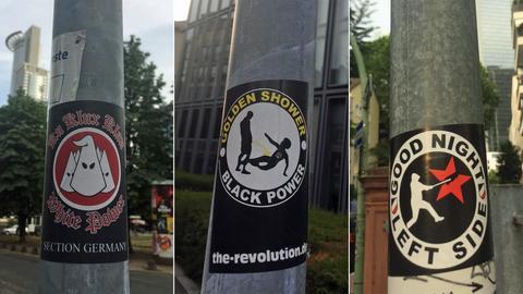 Rassistische Sticker