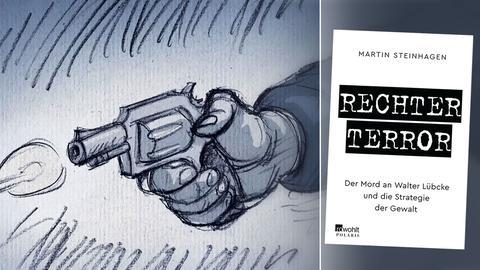 Buchtitel mit Illustration Schusswaffe