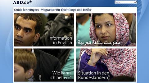 Screenshot der Seite refugees.ard.de