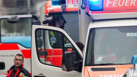 Rettungswagen im Einsatz in Frankfurt