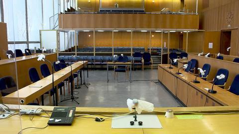 Der Gerichtssaal beim Lübcke Prozess