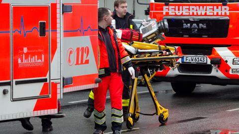 Rettungssanitäter im Einsatz in Frankfurt