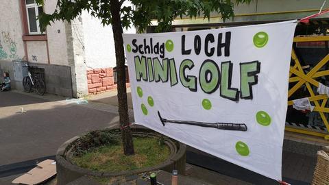 Transparent Schlagloch-Minigolf