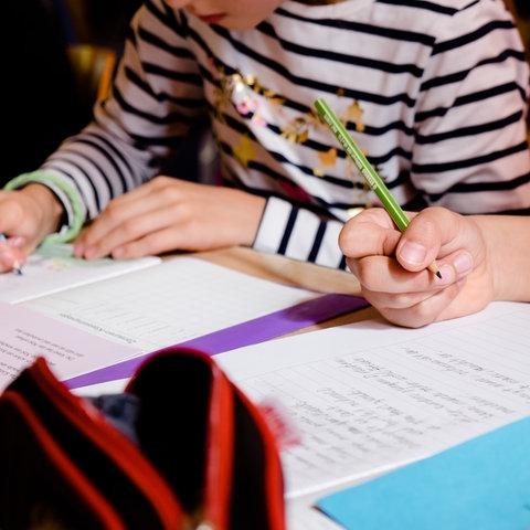 Schüler und Schülerinnen im Unterricht