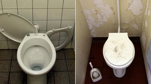 Schultoiletten sehen oft nicht besonders einladend aus.