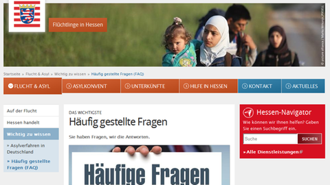 Screenshot Website Land Hessen