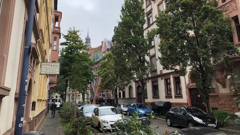 Häuser in der Krafftstraße in Offenbach