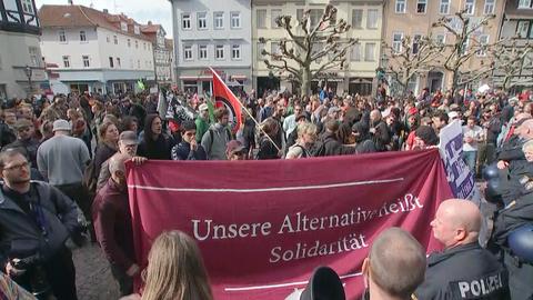 Demonstranten am Freitag in Witzenhausen