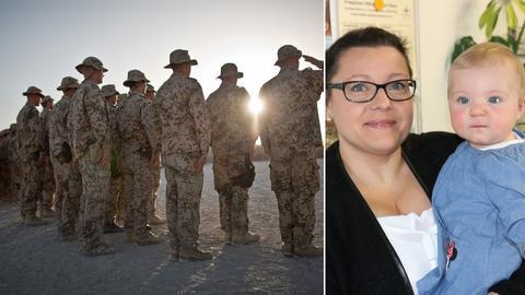 Soldaten Sujet / Nicole Piniakowski mit Tochter Enni