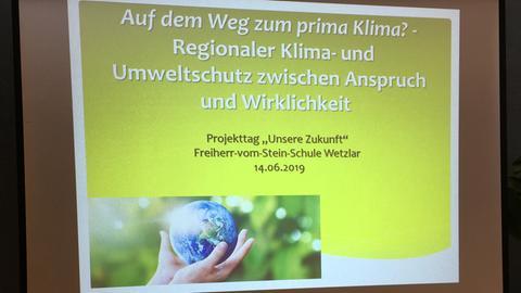 Begrüßungsbild zum Klimaschutztag an Freiherr-vom-Stein-Schule Wetzlar