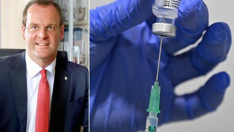 Collage: Stefan Reuß / Impfdosis