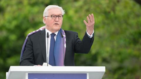Frank-Walter Steinmeier spricht auf dem Kirchentag
