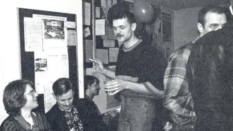 Historische Aufnahme aus den Anfangszeiten der Bar Switchboard in Frankfurt