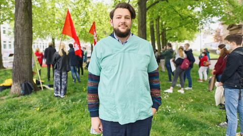 Krankenpfleger Mark Müller aus Gießen, 26 Jahre alt