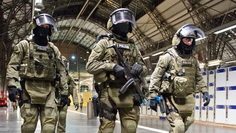 Terror-Übung am Frankfurter Hauptbahnhof