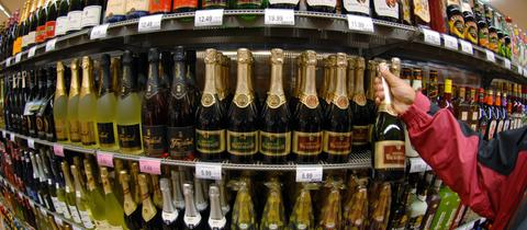 Alkohol im Supermarktregal
