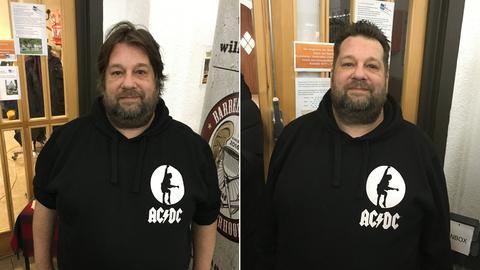 Udo vor und nach dem Haarschnitt von Barber Angel Angela.