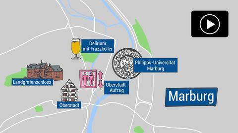 Wichtige Orte für Studenten in Marburg