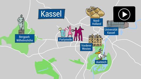 Universitätsstadt Kassel - Stadtplan
