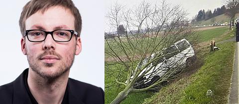 FR-Journalist Voigts, Unfallauto des NPD-Politikers