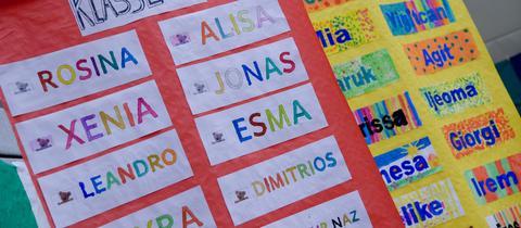 Namensliste einer Schulklasse